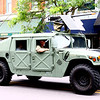 """An HMMWV, """"Humvee,"""" makes its way through downtown Goshen Monday morning during the annual Memorial Day parade. An M2 50-caliber is mounted on top."""