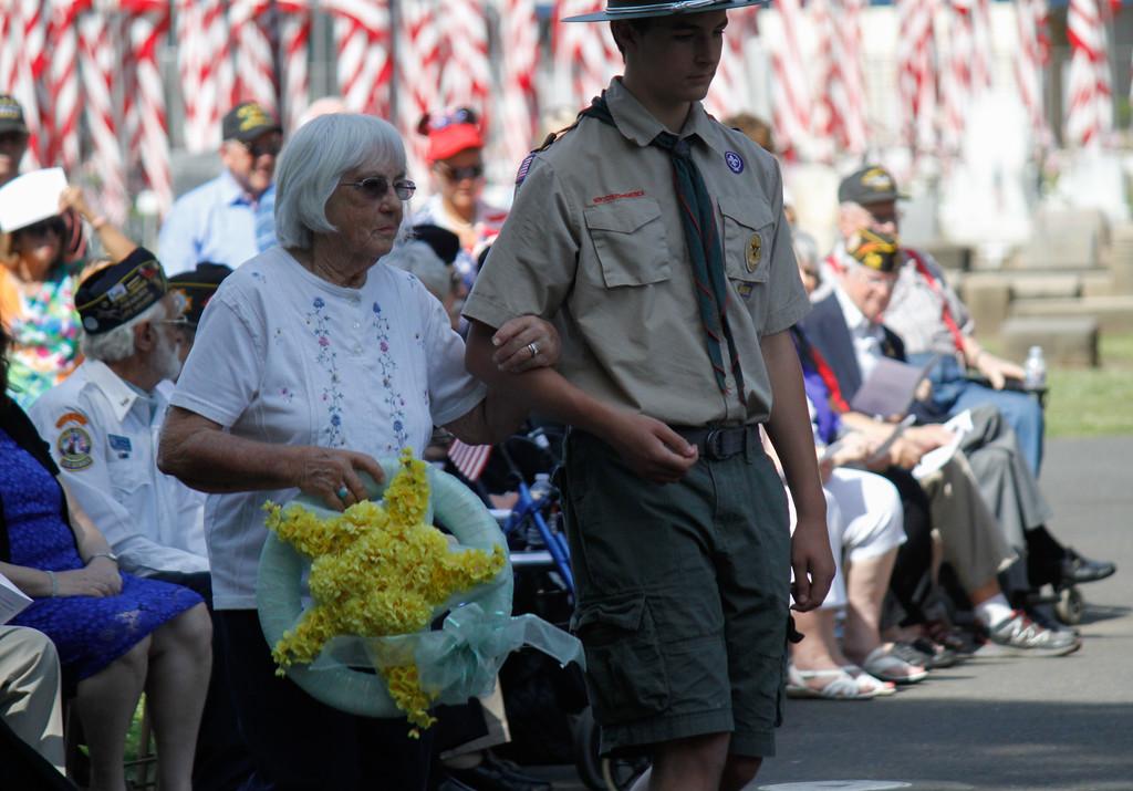 . Memorial Day Ceremony Monday May 29, 2017 at the Chico Cemetery in Chico, California. (Emily Bertolino -- Enterprise-Record)
