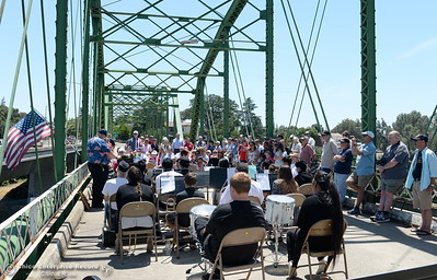 during the Memorial Day Ceremony on the Green Bridge in Oroville, Calif. Mon. May 30, 2016. (Bill Husa -- Enterprise-Record)