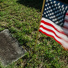 Local boy and girl scout troops, as well as a group from St. Anna's, joined together to flag the graves of veterans at St. Leo's Cemetery in Leominster on Saturday, May 27, 2017 ahead of Memorial Day weekend. SENTINEL & ENTERPRISE / Ashley Green