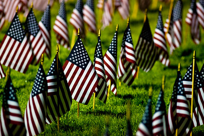 American Flags Memorial Day Observance Baker Creek Community Church McMinnville OR_2486