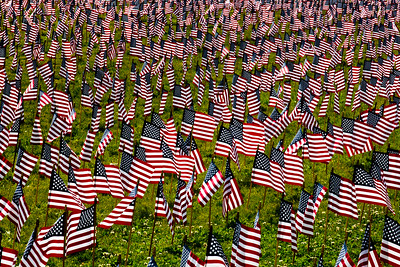 American Flags Memorial Day Observance Baker Creek Community Church_2430