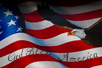 American Flag Mural Dayton WY_8401