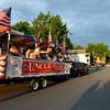 MARK ROBARGE - mrobarge@troyrecord.com<br /> The Uncle Sam Chorus from Troy serenades spectators during the annual Memorial Day parade in Cohoes on Thursday night.