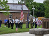 HOLLY PELCZYNSKI - BENNINGTON BANNER Active service memebers and members of the Veterans of Foreign Wars and the Legion Auxiliaries pay their respect to those who have died serving in the American armed forces at Wood Memorial Park in Hoosick Falls NY on Monday, in observation of Memorial Day.
