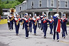 HOLLY PELCZYNSKI - BENNINGTON BANNER Members of the Mount Anthony Union High School band march through Shaftsbury town center on Monday morning during the Memorial Day Parade.