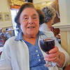 07/2013  Enjoying her wine at Happy Hour (my Mom had just passed away. They were friends... so we gave her a toast) :)