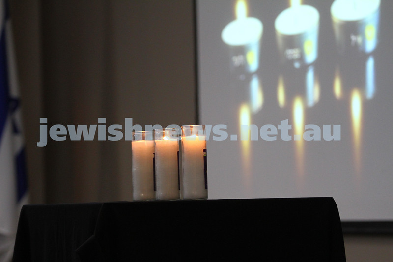 1-7-14. Memorial service at Beth Weizmann for the murdered Israeli teenagers Naftali Frenkel, Gilad Shaar and Eyal Yifrach. Photo: Peter Haskin