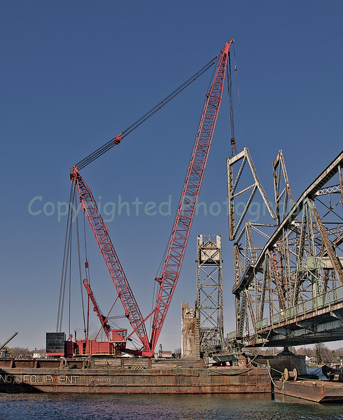Excalibur removes one of the remaining vertical sections of the Portsmouth tower. -March 27,2012