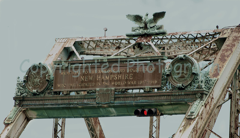 The Memorial Bridge plaques and eagle as they were originally mounted in 1923 .- February 14,2012