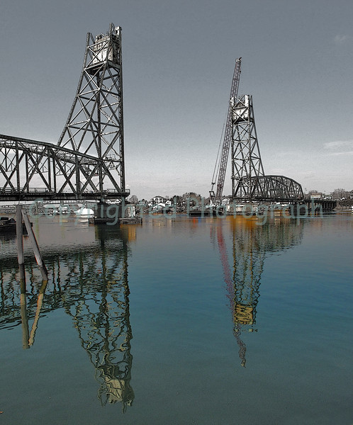The absence of the  Memorial Bridge's center span does little to diminish her prominence and character.-March 13,2012