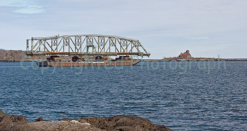 Now there's something you don't see everyday, a bridge to nowhere going somewhere! - March 31, 2012.