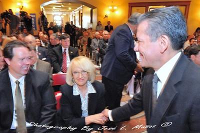 Roberto Rodriguez Hernandez Consul General of Mexico in Phoenix, Arizona  and  Former Gov.  Jan Brewer