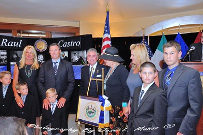 Presentation of the Flag of El Savador to Beth Castro, Don L. Daley,III and The Castro Family
