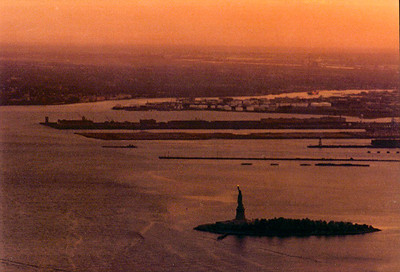 Looking down on the Statue of Liberty