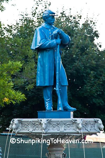Civil War Soldier Statue, Lancaster, Wisconsin