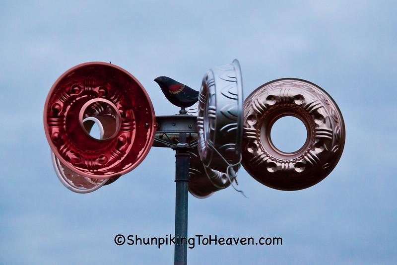 Jello Mold Wind Sculpture at Buddy Holly Crash Site, Cerro Gordo County, Iowa