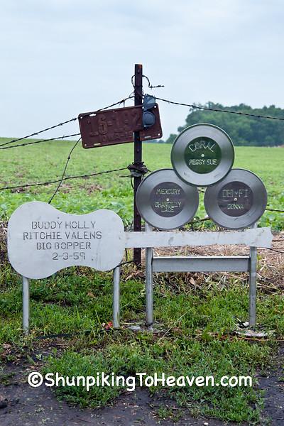 Memorial at Buddy Holly Plane Crash Site, Cerro Gordo County, Iowa