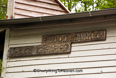 1937 Flood Marker, Rabbit Hash, Kentucky