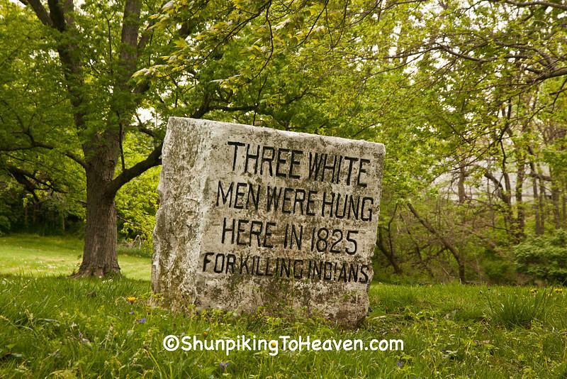 Fall Creek Massacre Memorial, Falls Park, Pendleton, Indiana