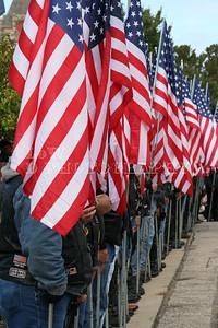 Kansas Patriot Guard Blocking Protesters