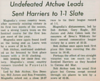 A local newspaper article from November 10, 1967