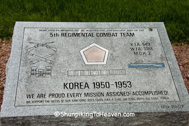 Korean War Memorial, Camp Butler National Cemetery, Sanamon County, Illinois