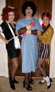 Magenta, Dr. Frankenfurter & Columbia at JAC's 2006 Halloween Party.