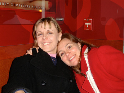 Lis & Wendy at Cold Stone Creamery, Royal Oak, MI after first chemo.