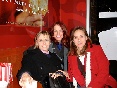 Lis, Claire & Wendy at Cold Stone Creamery, Royal Oak, MI after first chemo.