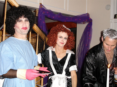 Dr. Frankenfurter, Magenta & Hef at JAC's 2006 Halloween Party.