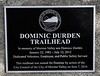 Dominic Durden Trailhead plaque