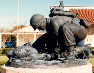 Combat Medic Memorial at the AMEDD Museum, Fort Sam Houston, Texas.