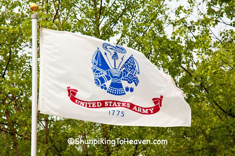 U.S. Army Flag, Camp Butler National Cemetery, Sangamon County, Illinois