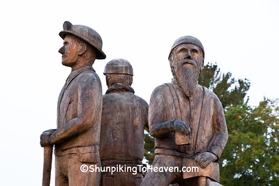 Miners Sculpture, Ironwood, Michigan