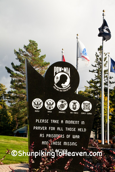 POW - MIA Memorial, Mercer, Wisconsin