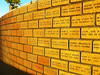 Funds are raised by charging for commemorative personalized bricks