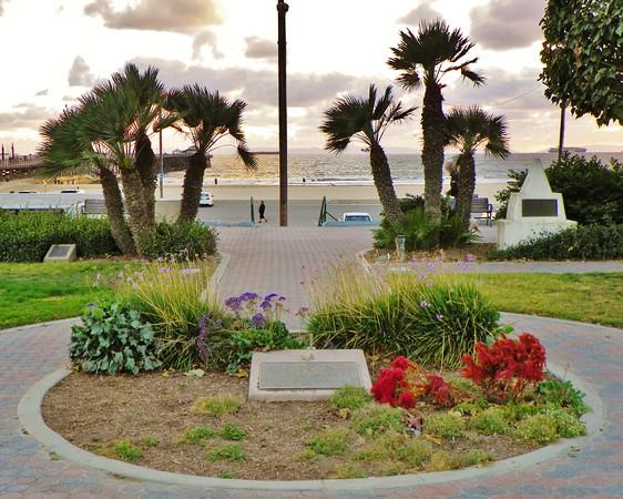 This patriotic memorial in Seal Beach is dedicated to President Eisenhower