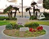 This patriotic memorial in Seal Beach is dedicated to President Eisenhower