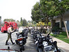 Police escort bikes