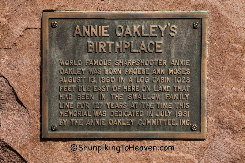 Annie Oakley's Birthplace, Darke County, Ohio