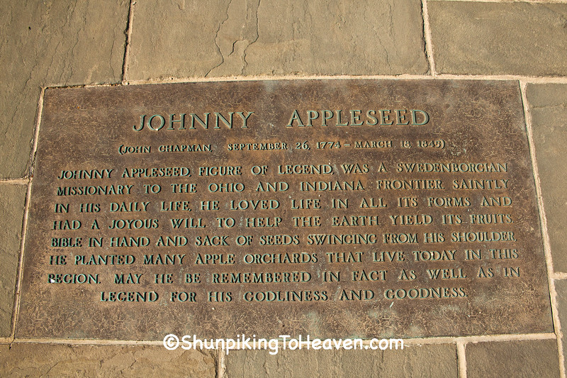 Plaque Honoring Johnny Appleseed, Cincinnati, Ohio