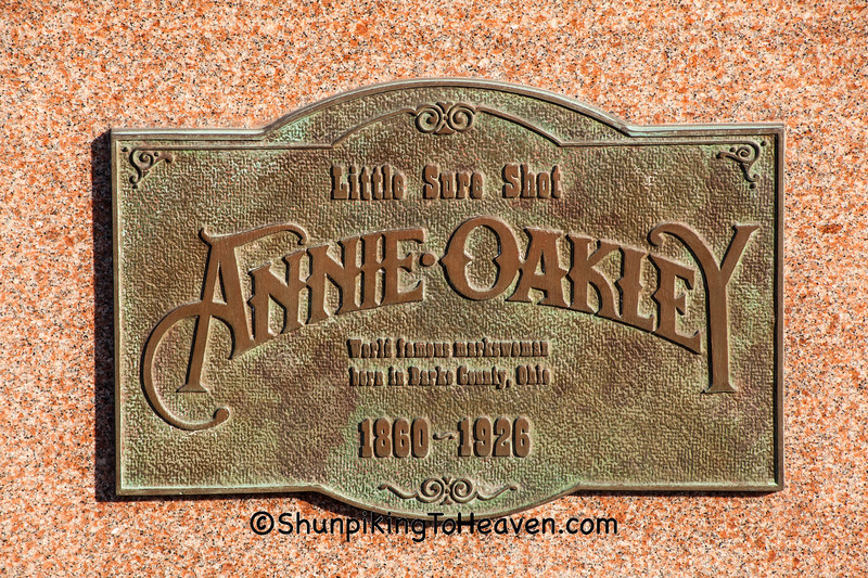 Annie Oakley Plaque, Darke County, Ohio