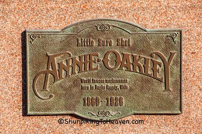 Annie Oakley Plaque, Darke County, Ohio