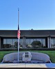 It may be that this flag is always at half-mast in memory of Sergeant Sowma.