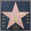 At The 4 Ladies of Hollywood Gazebo sculpture.<br /> This star on the Hollywood Walk of Fame remembers 7 fallen LAPD Hollywood officers.