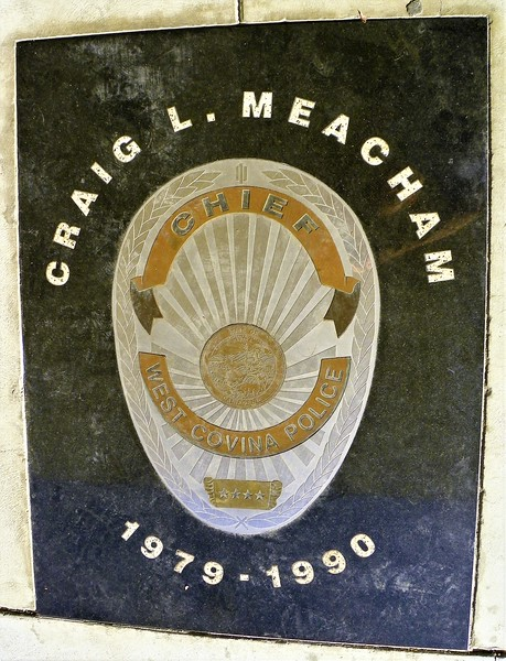 """Monument to retired Chief Craig Meacham. Read about him - <a href=""""http://articles.latimes.com/keyword/police-chief-craig-meacham"""">http://articles.latimes.com/keyword/police-chief-craig-meacham</a>"""