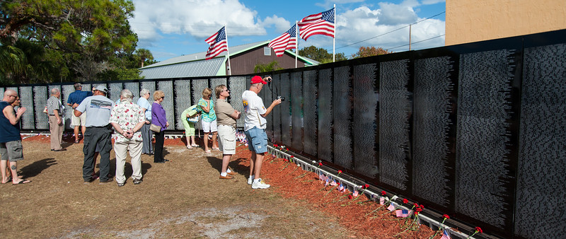 The Vietnam Traveling Memorial Wall, Engelwood, Florida, 11/2012