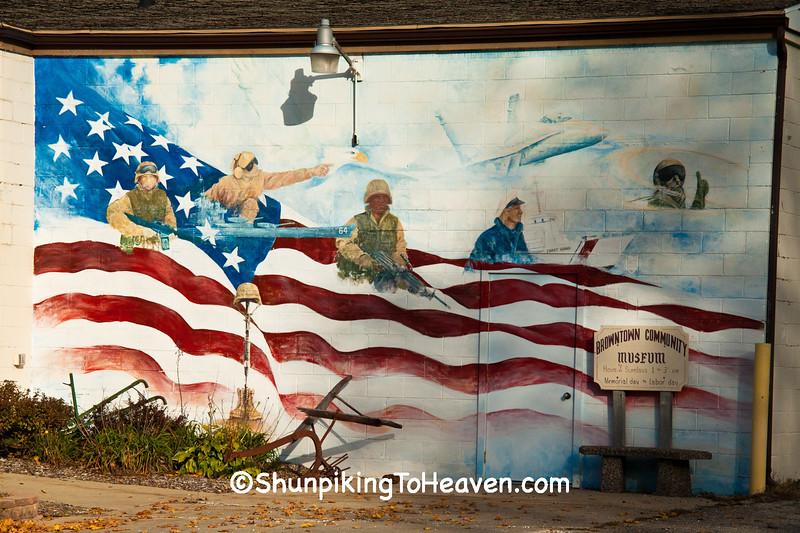 Veterans Mural, Green County, Wisconsin