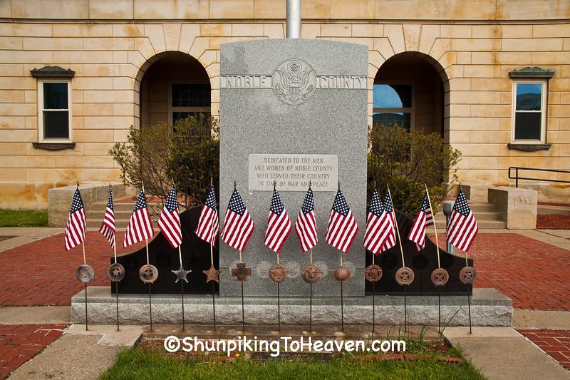 Veterans Memorial, Caldwell, Noble County, Ohio